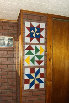 1'x1' barn quilts I experimented with