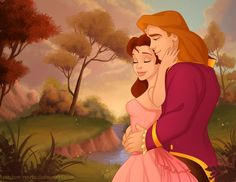 Princess Belle and Prince Adam | Más en http://madam-marla.deviantart.com/gallery/30607353