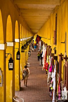 Dungeons turned into shops!   At Las Bóvedas by meandfrenchie, via Flickr  South America