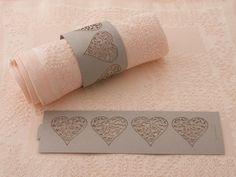 Die Cut Heart Paper Napkin Rings