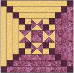 Looking for your next project? You& going to love Star Center Log Cabin Quilt Block by designer FeverishQuilter. Star Quilt Blocks, Star Quilt Patterns, Star Quilts, Pattern Blocks, Log Cabin Quilt Pattern, Log Cabin Quilts, Log Cabins, Log Cabin Patchwork, Quilting Projects