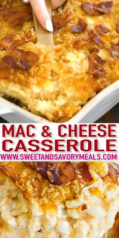 Best Mac and Cheese Casserole [VIDEO] - Sweet and Savory Meals Mac and Cheese Casserole is creamy, cheesy and very easy to make. This version of homemade baked Mac and Cheese Casserole is my most favorite and it's a huge hit with kids and adults alike. Best Mac N Cheese Recipe, Macaroni Cheese Recipes, Best Mac And Cheese, Mac And Cheese Recipe Baked Paula Deen, Recipes With Swiss Cheese, Homemade Mac And Cheese Recipe Baked, Ultimate Mac And Cheese, Gourmet Mac And Cheese, Smoked Mac And Cheese