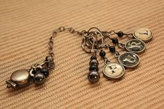 Old Fashioned Typewriter key charms Stitch Markers by wingsnscales, $9.49
