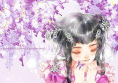 """清茗 (Qingming), """"胧月"""" (""""Hazy Moon"""")"""