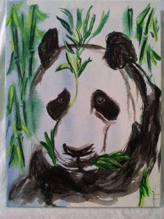 Panda Art Original Painting by TonicARTistry on Etsy, $40.00