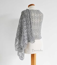 Silver, crochet shawl pattern | Craftsy