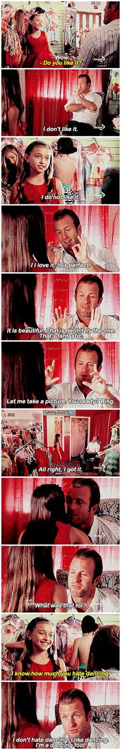 - What's the special occasion? - Uh, there's a father-daughter dance. Like there's not enough opportunities in life for me to embarrass myself. # DANNO AND GRACIE # 3.06