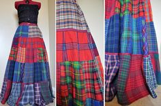 """Tartan Patch"" — Isn't this cotton skirt gorgeous?  I love plaid!"