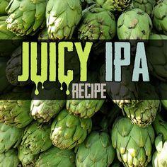 Homebrewing recipes All grain, juicy IPA homebrew recipe Beer Brewing Kits, Brewing Recipes, Homebrew Recipes, Beer Recipes, Recipies, Ipa Recipe, Clone Recipe, All Grain Brewing, Brewing Equipment
