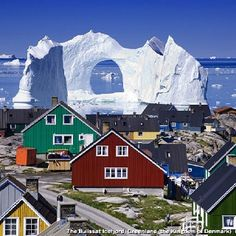 Greenland...is this real?! Like wake up walk outside oh hey there absolutely stunning amazing beautiful iceberg...what's happening...how are you today? I'd go broke because i'd never work I'd sit and stare all day.