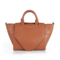 Structured Tote in tan by Bracher Emden. via The Cools My Bags, Purses And Bags, Types Of Bag, Every Woman, You Bag, Calf Leather, Paper Shopping Bag, Two By Two, My Style