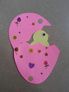 Its Spring Time! Our Chick in Egg craft here at Alamitos Neighborhood Library for Preschool Storytime.