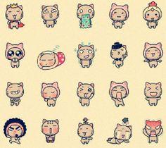 可爱的咪咪的表情,How to Draw , Study Resources for Art Students , CAPI ::: Create Art Portfolio Ideas at milliande.com, Art School Portfolio Work ,Whimsical, Cute, Kawaii, Doll, Girls,Cats, Creatures