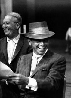 Frank Sinatra and Maurice Chevalier  - Photo Bob Willoughby