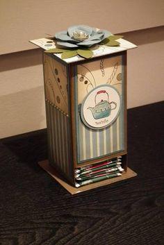 stampin up morning cup tea box