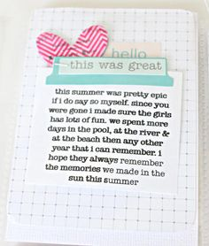 Project life journaling inspiration