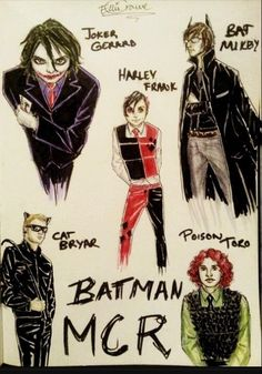 My Chemical Romance Batman Art