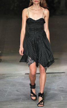 Isabel Marant SS17 Shaper A-Line Dress €1.320, Ansel Leather Sandal €912