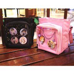 Japanese Transparent Baby Bag Pain Pack Backpack Shoulder Bags Multicolor Women