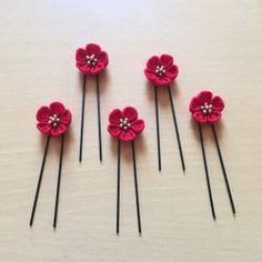 桜のつまみ細工の髪飾り(正絹)|ヘアアクセサリー|呱々(ここ)蘭|ハンドメイド通販・販売のCreema