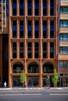 In partnership with Brickworks, we explore the finest examples of high-rise brick and masonry Architecture, both in Australia and abroad. Architecture Design, Architecture Portfolio Layout, Amazing Architecture, Architecture Office, Brick Cladding, Brick Facade, Brickwork, Mix Use Building, High Rise Building