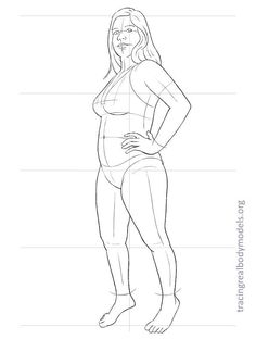 Tracing Real Body Models | An alternative to the stereotypical fashion figure templates Fashion Figure Templates, Fashion Design Template, Fashion Design For Kids, Fashion Design Sketches, Body Template, Human Figure Drawing, Figure Drawings, Plus Size Art, Manga Drawing Tutorials