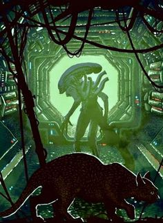 Rival alien races, one of which is the deadliest known form of life in the galaxy while the other is all about hunting and searching for a worthy opponent, and their interaction with humans. Alien Vs Predator, Predator Movie, Predator Series, Arte Alien, Alien Art, Alien Pics, King Kong, Saga Art, Giger Alien