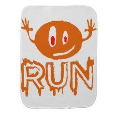 #Run | Little halloween monster Baby Burp Cloth - #halloween #party #stuff #allhalloween All Hallows' Eve All Saints' Eve #Kids & #Adaults