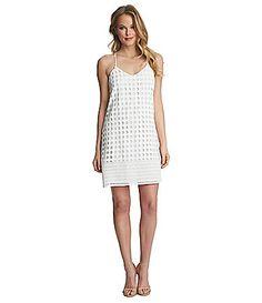 1 STATE Circle Lace Shift Dress #Dillards