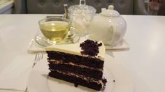High tea with a slice of taro velvet