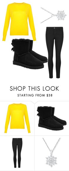"""Yellow"" by keieraimani ❤ liked on Polyvore featuring beauty and UGG Australia"