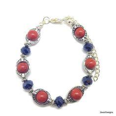 Red Jasper Bracelet, Jasper Bracelet, Red Bracelet, Red and Black , Beaded Bracelet, Gemstone Bracelet, Red Beaded Bracelet, Stone Bracelet by ZaverDesigns on Etsy