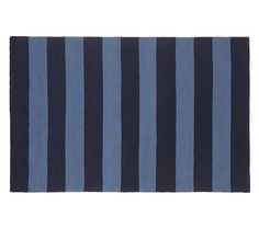 Rugby Rug - Navy/Blue | Pottery Barn Kids