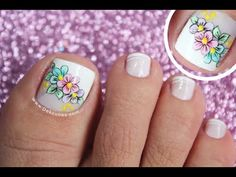 DECORACIÓN DE UÑAS PARA PIES MARIPOSA Y FRANCÉS♥ - BUTTERFLY NAIL ART♥ - FRENCH NAIL ART - NLC - YouTube Toe Nails, Coffin Nails, Turquoise Highlights, French Pedicure, Subtle Ombre, Hot Hair Colors, Purple Shampoo, Girls Nails, New Nail Art