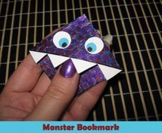 How to make a monster bookmark. It's supposed to be for kids, but I'm a kid at heart. :)