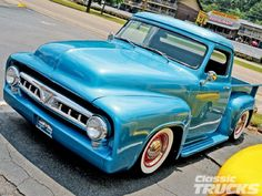 Great Smoky Mountain Ford F100 Run Blue Truck