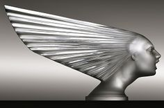 "❤ - ""Spirit of the Wind"" (1928) - Lalique, Art Deco hood ornament (mascot)."