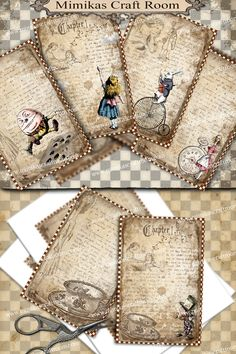 Alice Digital Paper Alice in Wonderland printable cards 4x6 inches Instant download alice party images background paper decorations by mimikascraftroom on Etsy https://www.etsy.com/listing/466992635/alice-digital-paper-alice-in-wonderland