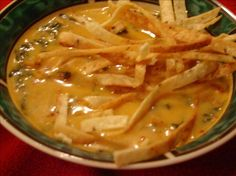 Chicken Tortilla soup ~  It's very similar to the soup served at Max & Erma's restaurant chain.  Has great reviews!