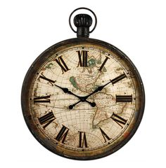 Evoke a sense of the old world with this incredibly eye-catching pocket watch style wall clock.