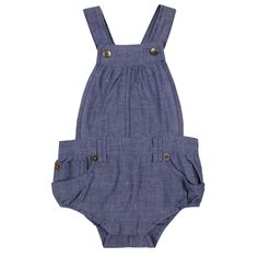 Chambray Short Dungarees | Babies Clothing | Vintage Childrens Clothes