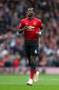 Paul Pogba of Manchester United during the Premier League match between Manchester United and Wolverhampton Wanderers at Old Trafford on September 2018 in Manchester, United Kingdom. Get premium, high resolution news photos at Getty Images Premier League News, Premier League Matches, Paul Pogba, Pogba Manchester, Manchester England, Cute Football Players, Jesse Lingard, Soccer Photography, Manchester United Players