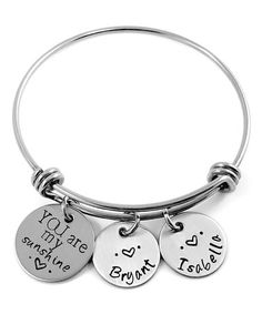 Another great find on #zulily! Stainless Steel 'You Are My Sunshine' Personalized Bangle #zulilyfinds