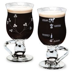 Always measure the correct amount of ingredients to make a fantastic Irish Coffee. Lovely handmade glasses from Tipperary Crystal. Irish Coffee Glasses, Irish Tea, Irish Eyes Are Smiling, Whiskey, Coffee Maker, Cream, Crystals, Tableware, Handmade
