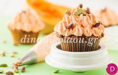 Cupcakes με κολοκύθα και φυστίκια | Dina Nikolaou