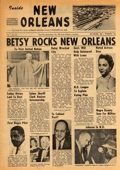 hurricane betsy article in New Orleans Louisiana paper