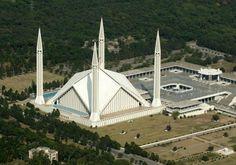 Faysal Camii (Şah Faysal Mescidi), İslamabad, Pakistan - Caminin kapasitesi 75.000 Kişi
