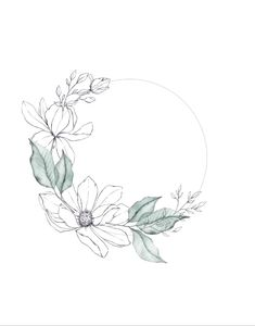 Magnolia wreath by Skyla Design Once I have digitized all of my watercolors & illustrations it's time to play around in Photoshop and create this wreath. Floral Illustrations, Botanical Illustration, Watercolor Illustration, Design Blog, Logo Design Inspiration, Design Design, Interior Design, Flower Line Drawings, Art Drawings