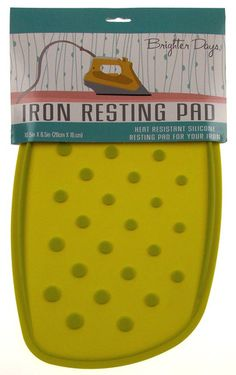 Green Oasis Iron Resting Pad Heat Resistant Silicone Morgan Home Brighter Days - FUNsational Finds - 1