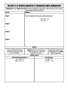 Systems of Equations (Graphing vs. Substitution) Partner